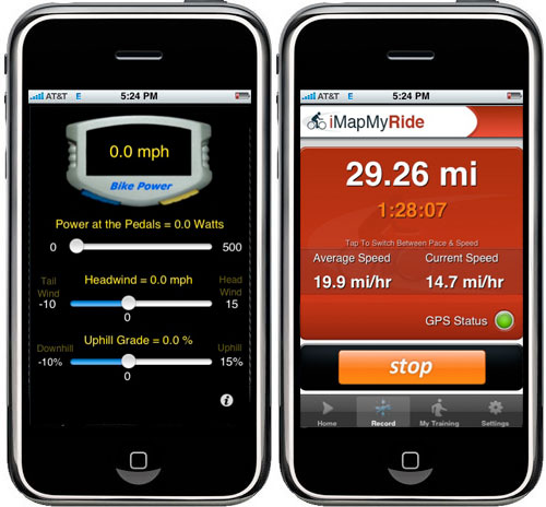 iPhone bike apps