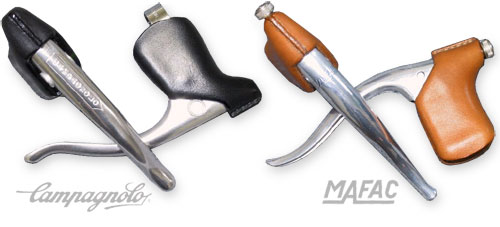 Campagnolo and MAFAC leather brake hoods