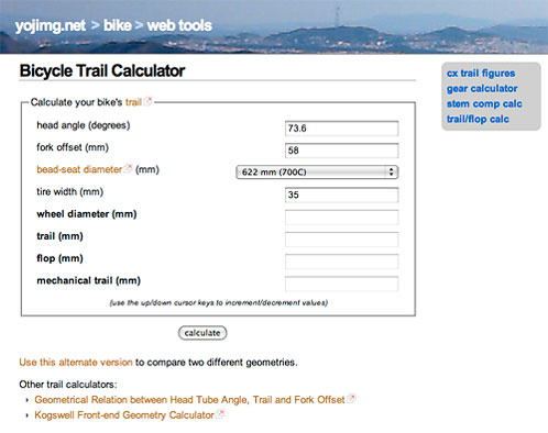 Bicycle Trail Calculator