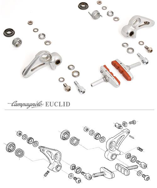 Campagnolo Euclid Cantilever Brakes