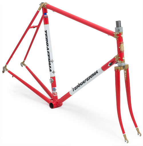 Terraferma Cycles frame and fork