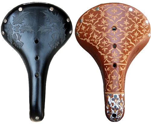 hand carved Brooks saddles