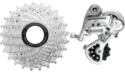 Campagnolo 11 speed cassette and rear derailleur